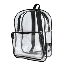 All Purpose Safe School Security Kids School Transparent PVC Clear Backpack