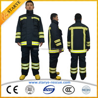 UL NFPA 4 Layers 98% Nomex Material Suit 3M Reflective Tapes Fire Fighting Suit