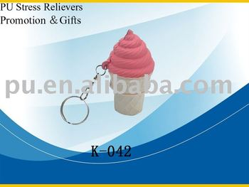 pu ice cream key chain