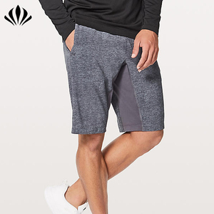 Men lightweight breathable gusset training shorts quick dry running shorts blank gym shorts with secure pocket