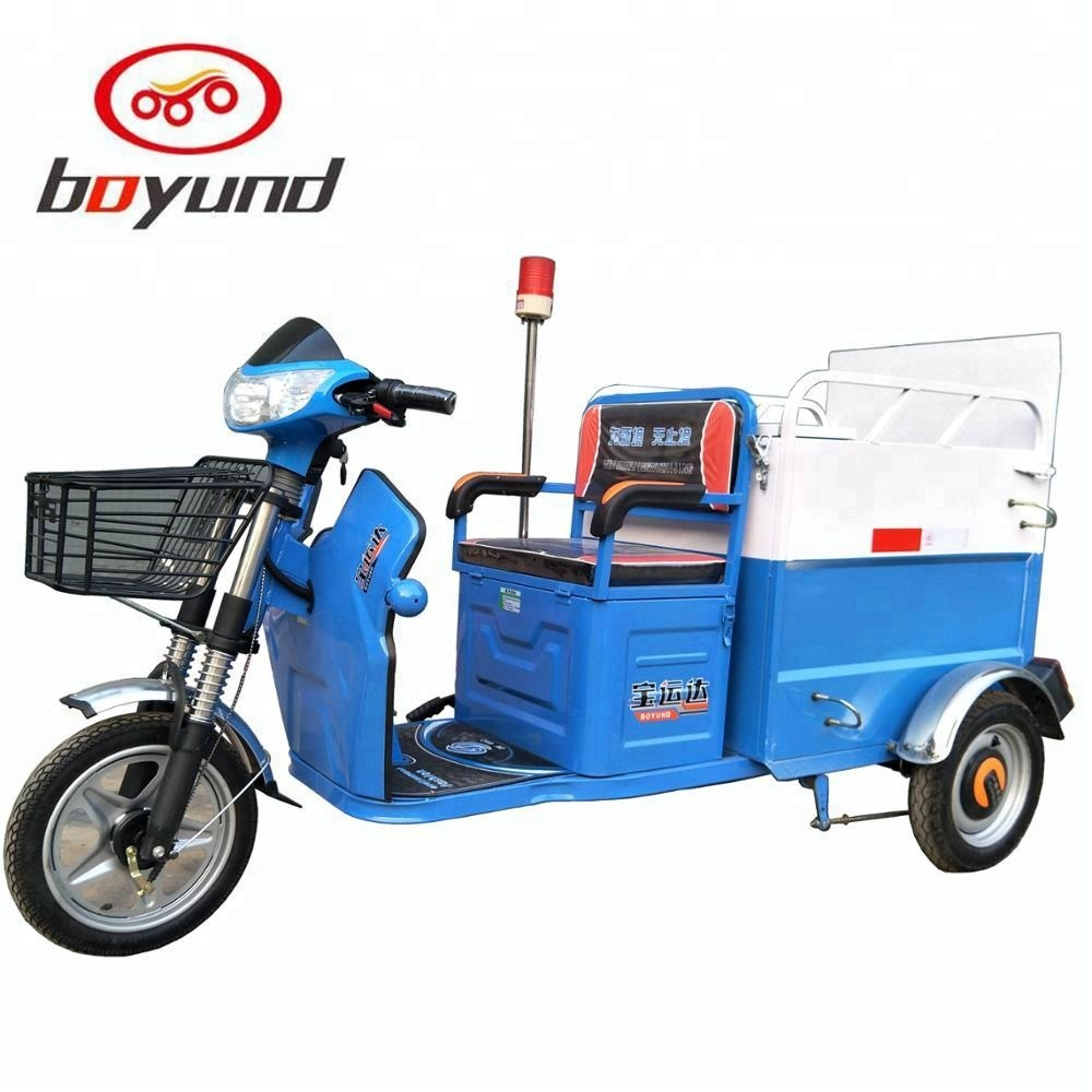 2018 Newest rubbish truck tricycle/electric garbage tricycle/electric cleaning tricycle