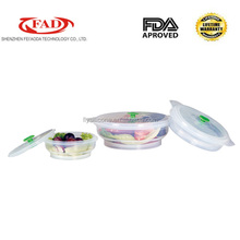 Feiaoda high quality food grade silicone lunch box containers