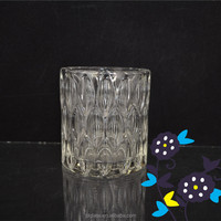 2016 new design glassware pen container/glass pen holder/Crystal Pen Container