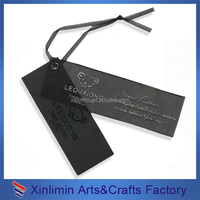 Custom cheap garment fancy black card hang tags