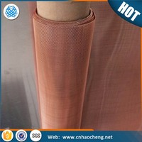 Red copper metal wire mesh screen for radiator