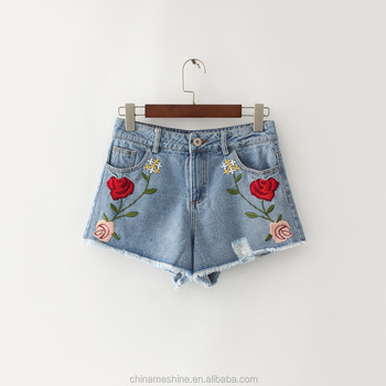 MS75175L Latest women summer denim casual shorts