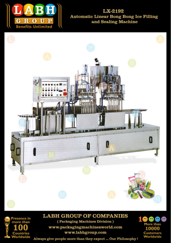 Automatic Linear Bong Bong Ice Filling and Sealing Machine