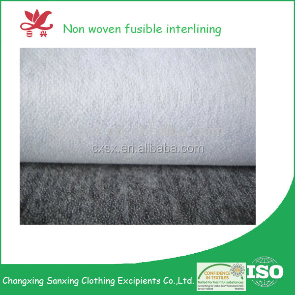 Changxing Sanxing nonwoven interlining fabric for clothing raw material