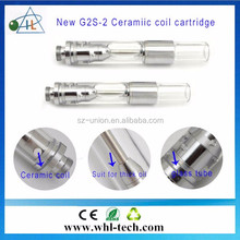 USA green vapor e cig no leaking ceramic coil .6ml .8ml and 1ml glass tank cbd oil atomizer co2 oil glass refillable atomizer