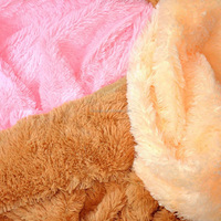 100% polyester high deep pile plush fleece fabric