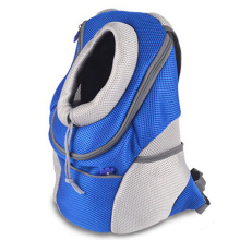 Pet Portable Backpack Double Shoulders Straps Mesh Pup Pack Head Out Design Dog Bag