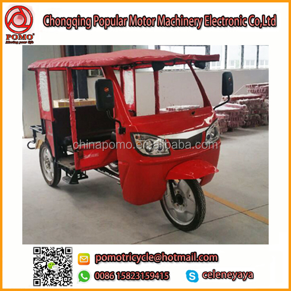 Africa YANSUMI Passenger Trolley, Heavy Loading Tricycle, Three Wheel Diesel Motorcycle