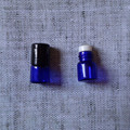 1ml 15x19mm Natural Blue Roll On Essentical Oil Bottle With Glass Plastic Roller And Plastic Cap