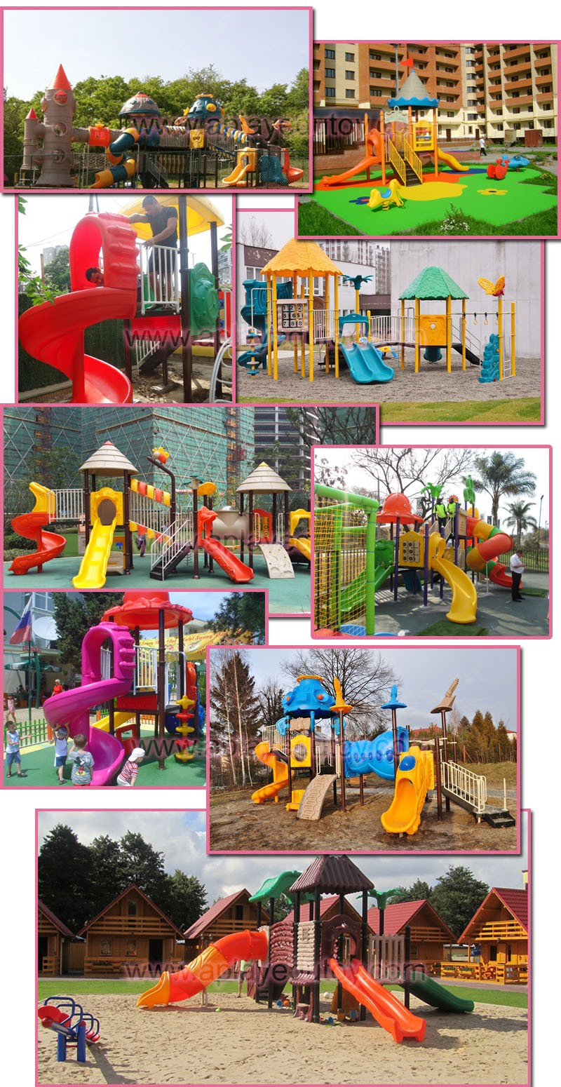 Residential outdoor playground equipment for small school kids outside game slide playing gym structure.jpg