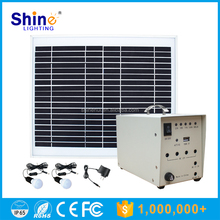 10W High Efficient DC and AC Output Roof Mounting Home Solar Power Generator System