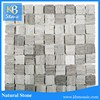Different shapes wooden grey marble stone tile From China
