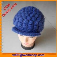 wholesale 100% acrylic handmade hats for kids free beanie knitting patterns baby children peaked cap