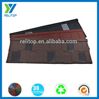 High Quality Stone Coated Flat Steel Roofing Tiles/Metal Roofing Different Sizes