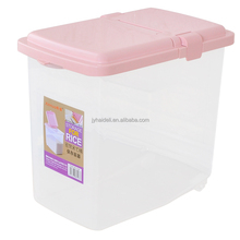 Multi-function square plastic bucket rice bucket storage pail with lid
