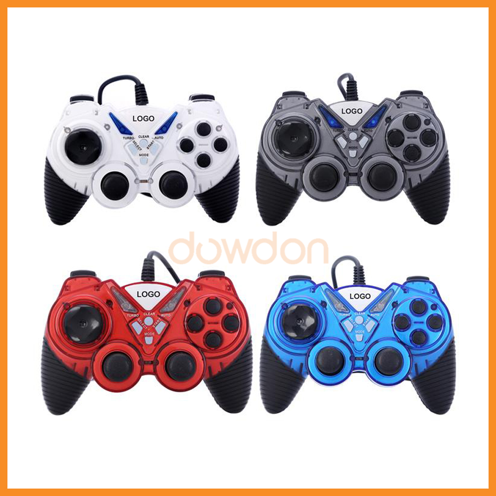 USB Computer Game Wired PC Gamepad Controller Vibration Gamepad Joypad Joystick For PC Desktop Laptop