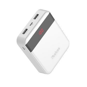 Yoobao Portable Charger 10000mAh Lightning and Micro Input and Dual Output Power Bank M4Pro with LED Display