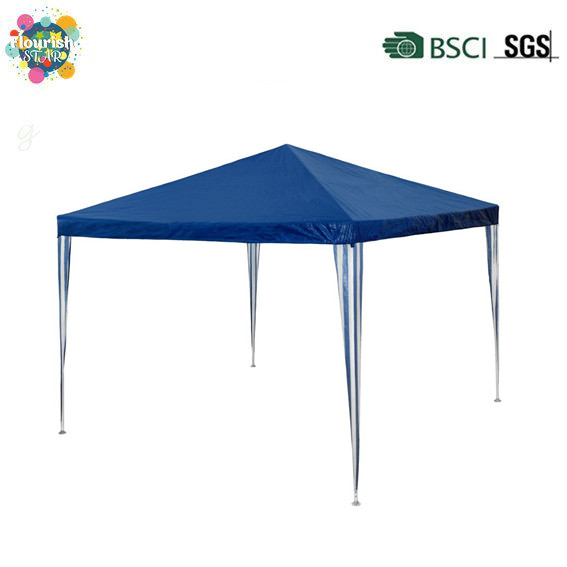 Outdoor Garden Party Camping Festival Blue And White Stripe Metal Frame Tentmarquee 3 x 3m Gazebo