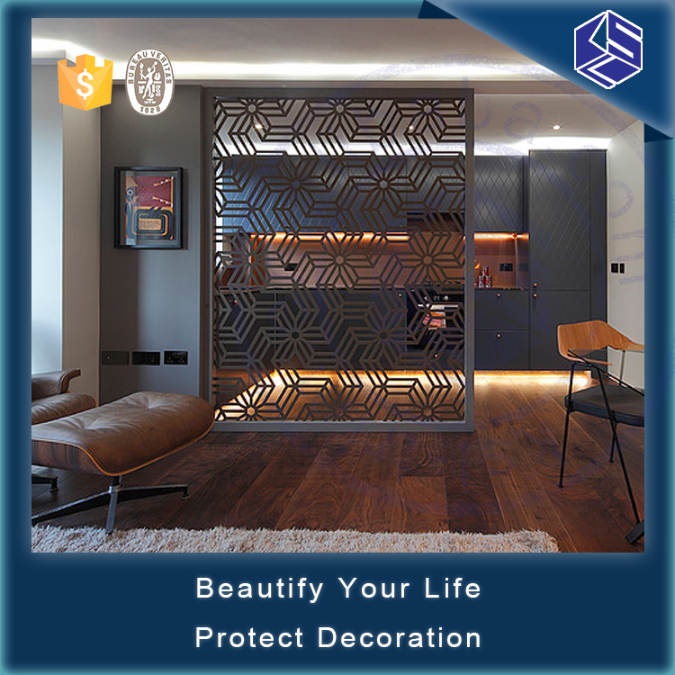Hotel metal partition screen stainless steel divider partition wall
