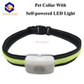 No need battery environmental last longer self powered LED Lights Pet Dog Collars