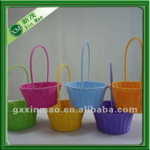 handmade plastic easter basket for colorful eggs storage