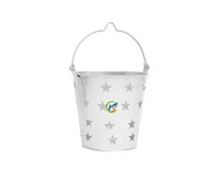 Star Decor Zinc Small Metal Pails