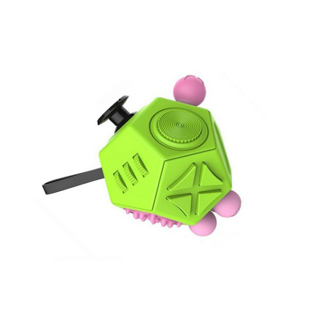 2017 hot new products 9 color on stock fidget cube 12 sides for Stress Reliver