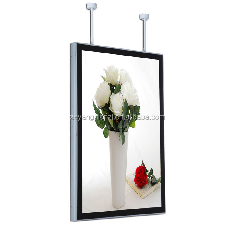 Acrylic LED advertising menu hanging light box display