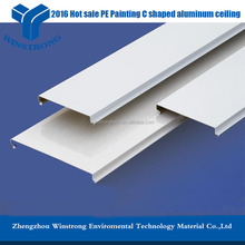 Indoor ceiling panel,C shaped aluminum strip ceiling for sale