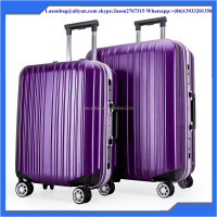 2014 hot sale colorful purple polycarbonate PC travel trolley luggage bag