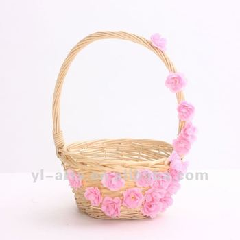 candy and sweets wicker gift packing basket for chiristmas
