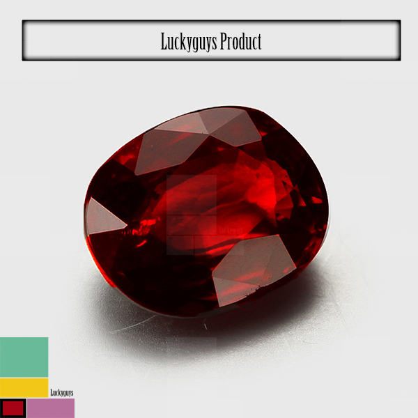 Natural natural ruby ,oval shapes ruby color natural gemstone China factory price in stock