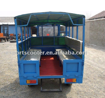 10HP Diesel engine tricycle for passenger and cargo