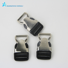 Quick side release metal plastic buckle for dog collars