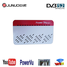junuo factory price DVB-S2 MINI HD Satellite Receiver SUNPLUS 1506T with WIFI IKS IPTV