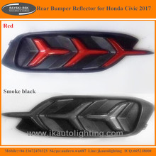 Lambo Style LED Rear Bumper Reflectors for Honda Civic Hot Sale Rear Bumper LED Reflector Lights for Honda Civic 2017