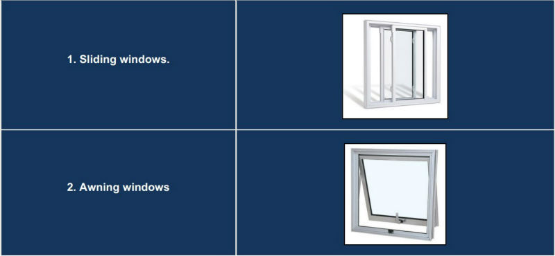 French Style Pvc Upvc Two Panel Outward Opening Casement