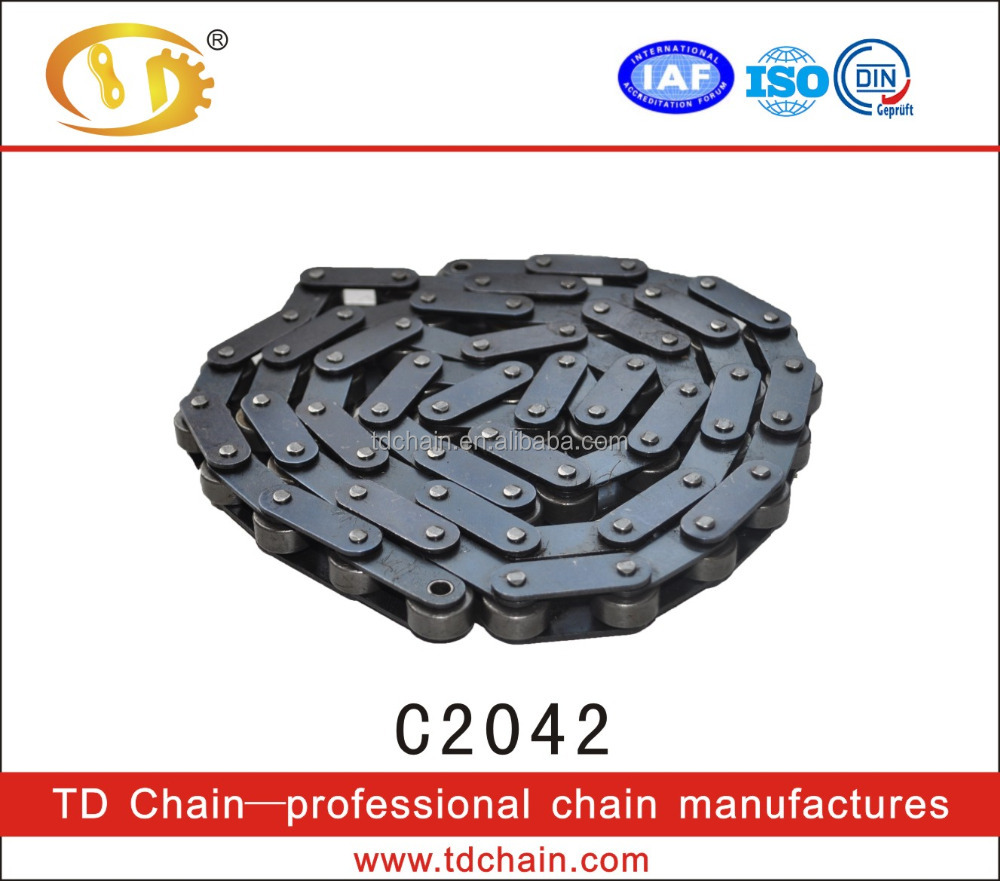 Double row short pitch precision Lower Price roller chain with attachments