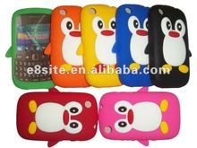 Cell Phone Cute Penguin Silicone Case Covers For BlackBerry 9220 Curve