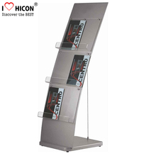 Custom Free Design 3-Layer Floor Cheap Greeting Card Or Service Menu Poster Display Rack For Sale