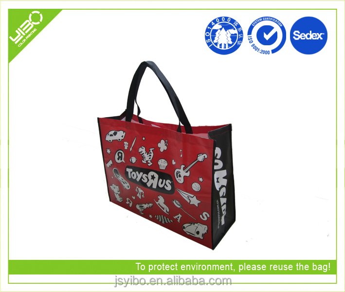 coloful promotional laminated large shopping bags non woven