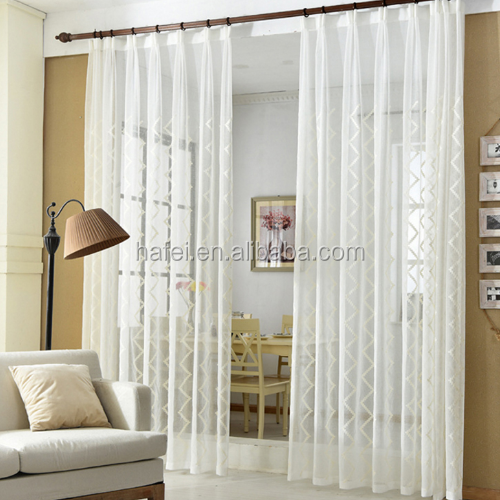 modern wave turkish white tulle sheer curtain fabric