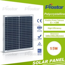2017 Hot sale 15W polycrystallsolar panel/panel solar/PV modules price per watt from China factory directly