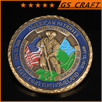 Advanced Embossed Gold Silver Bronze Military Challenge Coins