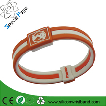 2016 Custom Sport silicone power bracelet,silicone energy band/silicone ion me negative
