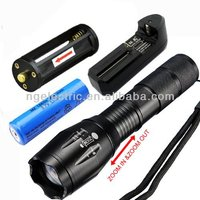 CREE T6 zoomable led flashlight 18650 or 3XAAA battery